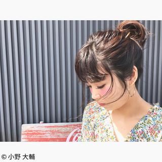 女子会 ナチュラル ヘアアレンジ ミディアム ヘアスタイルや髪型の写真・画像