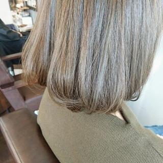 抜け感 アッシュ ワンカール ストレート ヘアスタイルや髪型の写真・画像