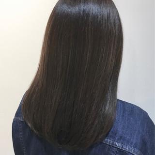 ナチュラル ダークグレー セミロング 似合わせカット ヘアスタイルや髪型の写真・画像 ヘアスタイルや髪型の写真・画像