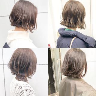 ボブ 切りっぱなし デート アンニュイほつれヘア ヘアスタイルや髪型の写真・画像