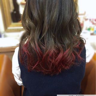 大人かわいい 暗髪 ストリート グラデーションカラー ヘアスタイルや髪型の写真・画像