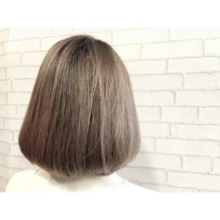 ボブ 外国人風カラー ガーリー グラデーションカラー ヘアスタイルや髪型の写真・画像
