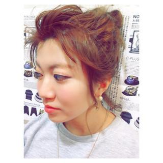 ミディアム ルーズ ヘアアレンジ 大人かわいい ヘアスタイルや髪型の写真・画像