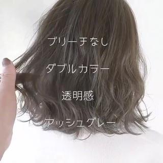 透明感 アッシュ 外国人風 ブリーチなし ヘアスタイルや髪型の写真・画像 ヘアスタイルや髪型の写真・画像