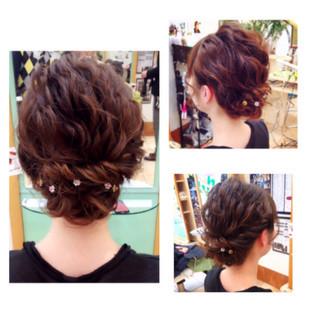 ミディアム ショート 結婚式 大人かわいい ヘアスタイルや髪型の写真・画像