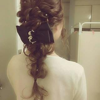 ゆるふわ 編み込み ハーフアップ ヘアアレンジ ヘアスタイルや髪型の写真・画像 ヘアスタイルや髪型の写真・画像