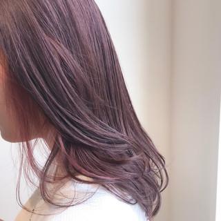 透明感カラー デート ピンクベージュ ブリーチ無し ヘアスタイルや髪型の写真・画像