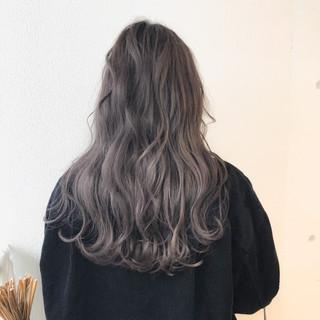 ロング ブリーチ グラデーションカラー ストリート ヘアスタイルや髪型の写真・画像