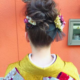 ロング ヘアアレンジ 成人式 和装 ヘアスタイルや髪型の写真・画像