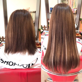 秋冬スタイル ハイライト ハイトーン ロング ヘアスタイルや髪型の写真・画像
