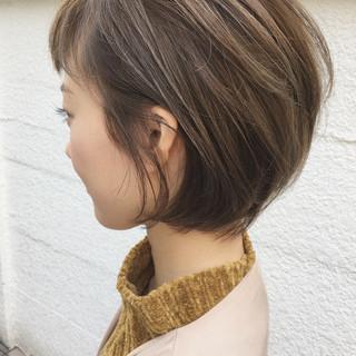 ショート ストリート ハイライト 抜け感 ヘアスタイルや髪型の写真・画像