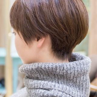 ショートボブ フェミニン 大人かわいい ショート ヘアスタイルや髪型の写真・画像