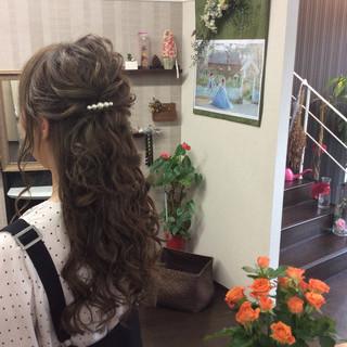 ロング ヘアアレンジ 簡単ヘアアレンジ 結婚式 ヘアスタイルや髪型の写真・画像