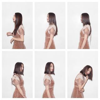 大人女子 ナチュラル モード 切りっぱなし ヘアスタイルや髪型の写真・画像