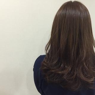 アッシュ 大人女子 ロング ナチュラル ヘアスタイルや髪型の写真・画像