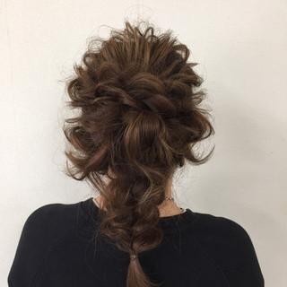 かわいい 上品 エレガント 結婚式 ヘアスタイルや髪型の写真・画像