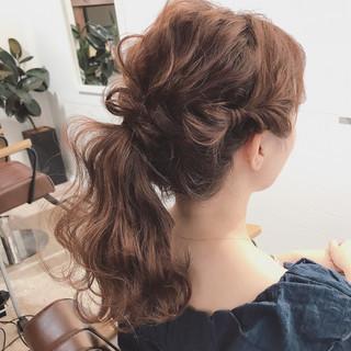セミロング 結婚式 女子会 ヘアアレンジ ヘアスタイルや髪型の写真・画像