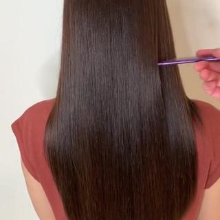 美髪矯正 最新トリートメント トリートメント ナチュラル ヘアスタイルや髪型の写真・画像