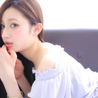 艶髪 ピュア おフェロ ストレート ヘアスタイルや髪型の写真・画像