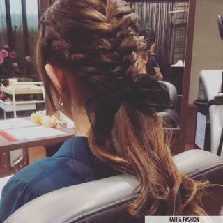 結婚式 ロング パーティ 二次会 ヘアスタイルや髪型の写真・画像 ヘアスタイルや髪型の写真・画像