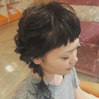 ヘアアレンジ ゆるふわ 簡単ヘアアレンジ 黒髪 ヘアスタイルや髪型の写真・画像
