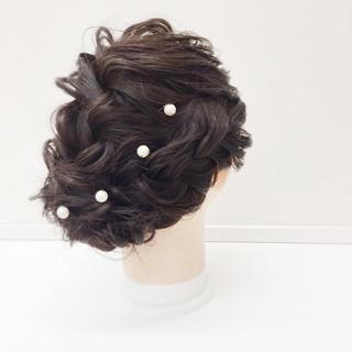 二次会 ヘアアレンジ ロング 上品 ヘアスタイルや髪型の写真・画像