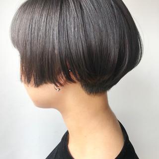 ハンサムショート ハンサム 黒髪 ハンサムボブ ヘアスタイルや髪型の写真・画像