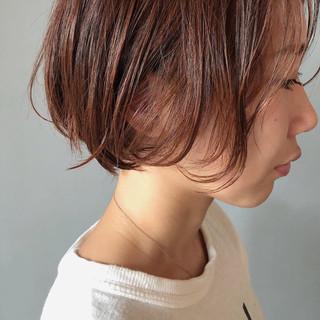 アプリコットオレンジ デート オレンジ ナチュラル ヘアスタイルや髪型の写真・画像