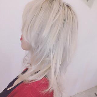 ダブルカラー セミロング 外国人風カラー モード ヘアスタイルや髪型の写真・画像