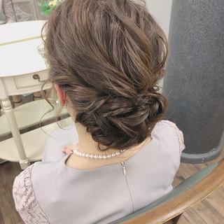 大人可愛い エレガント 結婚式ヘアアレンジ ゆるふわセット ヘアスタイルや髪型の写真・画像