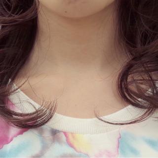 イルミナカラー セミロング レイヤーカット 大人かわいい ヘアスタイルや髪型の写真・画像