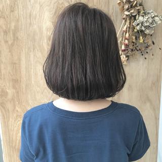 フェミニン エフォートレス ナチュラル ボブ ヘアスタイルや髪型の写真・画像