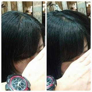 前髪あり ナチュラル フェミニン 縮毛矯正 ヘアスタイルや髪型の写真・画像