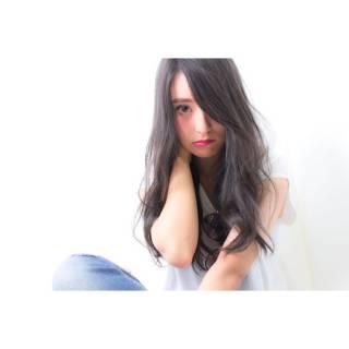 外国人風 モテ髪 ロング ナチュラル ヘアスタイルや髪型の写真・画像