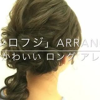 結婚式 セミロング デート ゆるふわ ヘアスタイルや髪型の写真・画像 ヘアスタイルや髪型の写真・画像