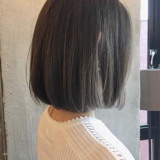 外国人風カラー ボブ 梅雨 リラックス ヘアスタイルや髪型の写真・画像