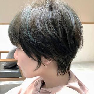ナチュラル 前髪あり 小顔ショート ショート ヘアスタイルや髪型の写真・画像