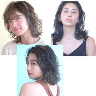 大人女子 ミディアム 大人ミディアム ウルフ女子 ヘアスタイルや髪型の写真・画像