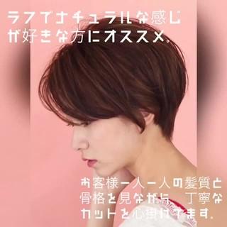 ショート ニュアンスパーマ ショートボブ 簡単ヘアアレンジ ヘアスタイルや髪型の写真・画像