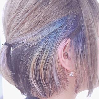 グラデーションカラー インナーカラー ストリート 外国人風 ヘアスタイルや髪型の写真・画像