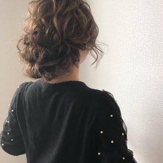 ヘアアレンジ 成人式 セミロング アップスタイル ヘアスタイルや髪型の写真・画像