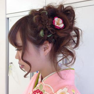 成人式 ロング ガーリー 個性的 ヘアスタイルや髪型の写真・画像