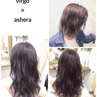 ストリート グレージュ 外国人風 バイオレットアッシュ ヘアスタイルや髪型の写真・画像