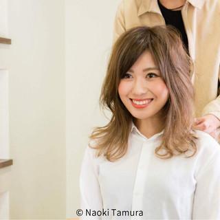 大人女子 セミロング こなれ感 春 ヘアスタイルや髪型の写真・画像