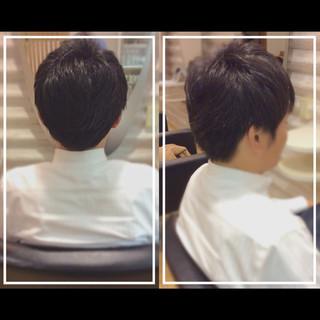 黒髪 オフィス メンズヘア ストリート ヘアスタイルや髪型の写真・画像