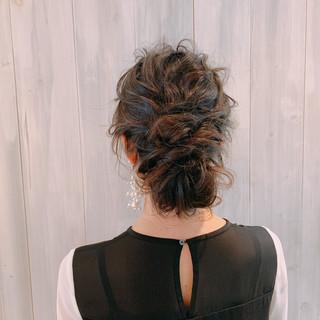 ロング 結婚式ヘアアレンジ ヘアアレンジ 大人女子 ヘアスタイルや髪型の写真・画像