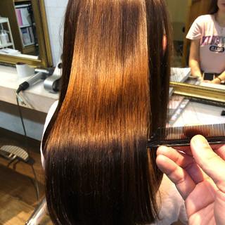 髪質改善 ナチュラル 縮毛矯正 ロング ヘアスタイルや髪型の写真・画像