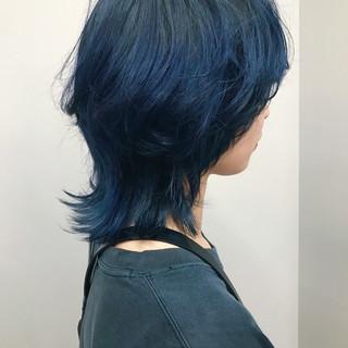 ブルーアッシュ モード ショート アディクシーカラー ヘアスタイルや髪型の写真・画像