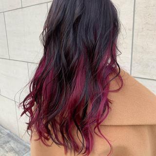 ナチュラル パープルカラー 外国人風カラー ピンクパープル ヘアスタイルや髪型の写真・画像
