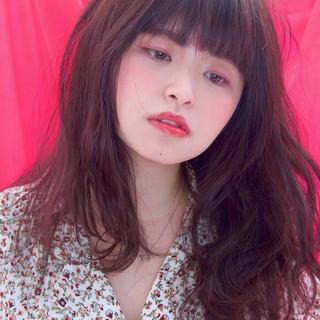 外国人風 前髪あり ロング 女子会 ヘアスタイルや髪型の写真・画像